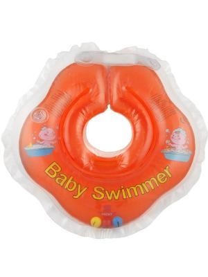 Круг оранжевый (полуцвет+погремушка) Baby Swimmer. Цвет: оранжевый