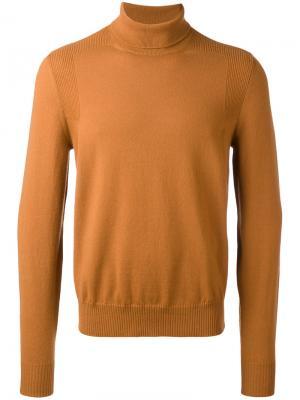 Трикотажный свитер Maison Margiela. Цвет: жёлтый и оранжевый
