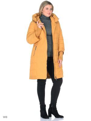 Пальто Romantic Collection.. Цвет: горчичный