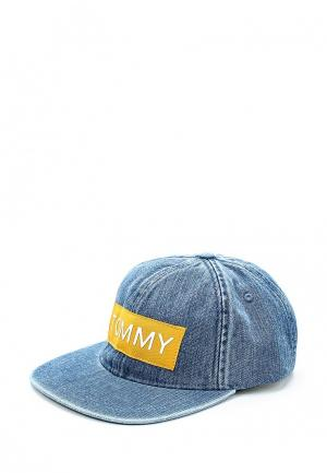 Бейсболка Tommy Jeans. Цвет: голубой