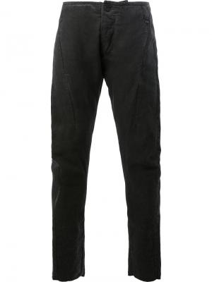 Узкие брюки без пояса Masnada. Цвет: серый
