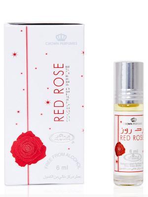 Арабские масляные духи Алая роза (Red rose), 6 мл Al Rehab. Цвет: красный, белый