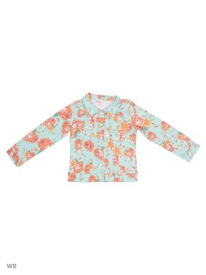 Джинсовая куртка Modis. Цвет: светло-голубой, голубой, оранжевый