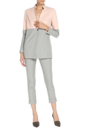 Костюм:жакет,брюки Adzhedo. Цвет: серый, розовый