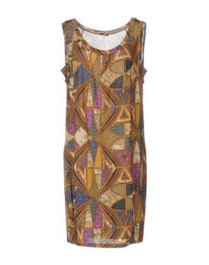 Короткое платье ALVIERO MARTINI 1a CLASSE. Цвет: бежевый