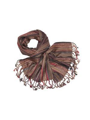 Платок Ethnica. Цвет: коричневый, сиреневый