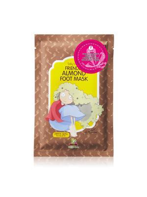 Увлажняющие носки SALLYS BOX с экстрактом миндального масла Sally's. Цвет: золотистый