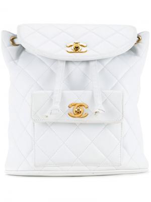 Рюкзак Duma Chanel Vintage. Цвет: белый