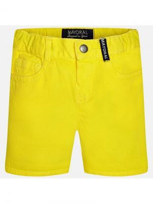 Бриджи Mayoral. Цвет: желтый