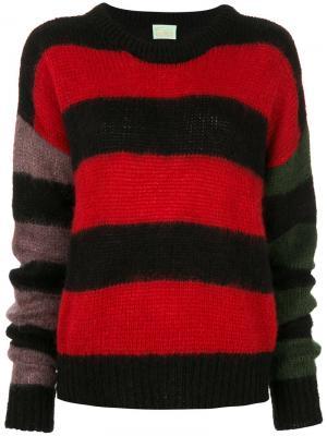 Объемный свитер в полоску Aries. Цвет: чёрный