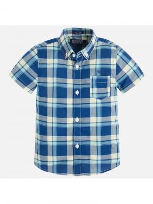 Рубашка Mayoral. Цвет: темно-серый