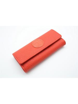 Ключница из натуральной кожи TOPO FORTUNATO. Цвет: оранжевый