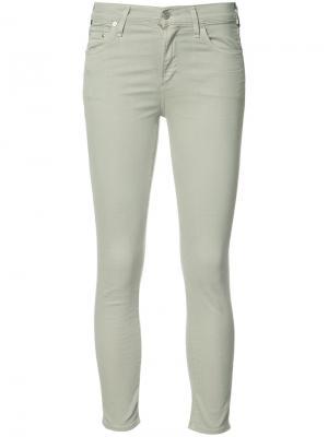 Укороченные джинсы супер скинни Citizens Of Humanity. Цвет: зелёный