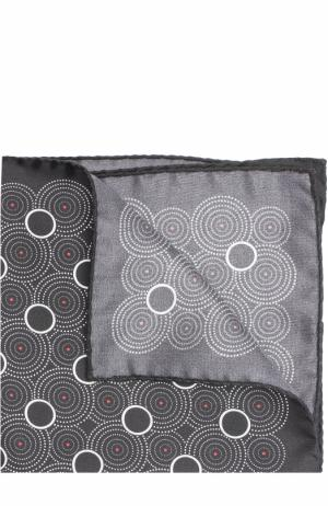 Шелковый платок с принтом Eton. Цвет: черный