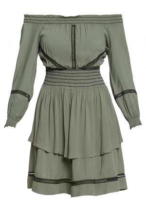 Платье из вискозы 184675 Anna Rita N. Цвет: зеленый