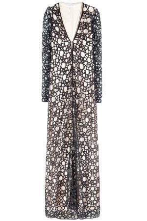 Шерстяное платье Kaufmanfranco. Цвет: черный, бежевый