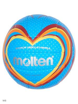 Мяч для пляжного волейбола Molten. Цвет: голубой, серебристый