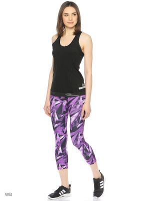 Капри HIGH-RISE THREE-QUARTER WORKOUT TIGHTS Adidas. Цвет: фиолетовый