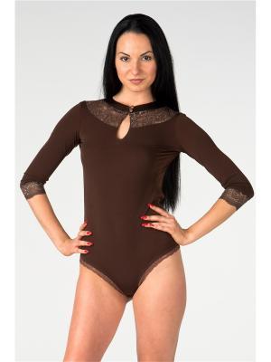 Боди AltraNatura. Цвет: коричневый