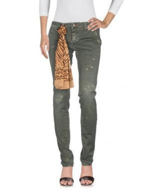 Джинсовые брюки TRAMAROSSA. Цвет: зеленый-милитари