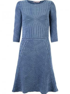 Ribbed tricot dress Cecilia Prado. Цвет: синий