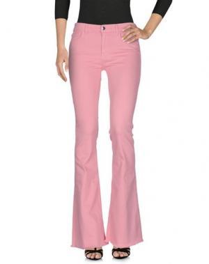 Джинсовые брюки THE SEAFARER. Цвет: розовый