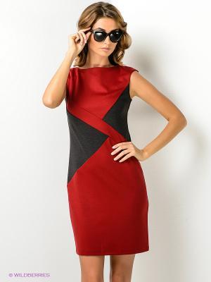 Платье МадаМ Т. Цвет: красный, черный