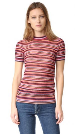 Трикотажный свитер Henriette в полоску Jill Stuart. Цвет: мульти