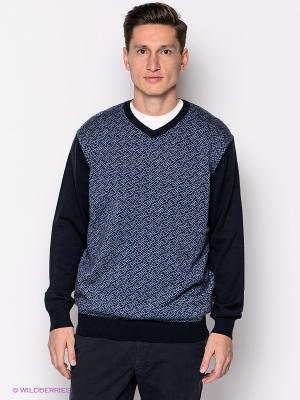 Пуловер John Jeniford. Цвет: темно-синий, голубой