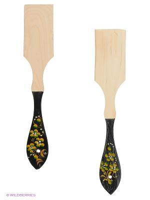 Набор деревянных ложек Сувенир Сувенирыч. Цвет: зеленый, красный