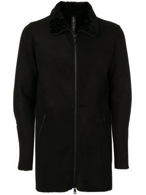 Панельная куртка на молнии Giorgio Brato. Цвет: чёрный
