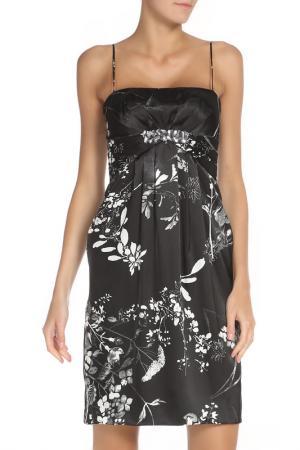 Платье полуприлегающего силуэта на бретелях Groupe JS. Цвет: черный, белый