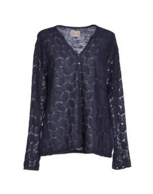 Блузка BELLA JONES. Цвет: темно-синий