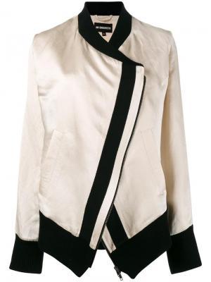 Куртка-бомбер с контрастной окантовкой Ann Demeulemeester. Цвет: телесный