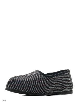 Тапки ШК обувь. Цвет: серый, красный