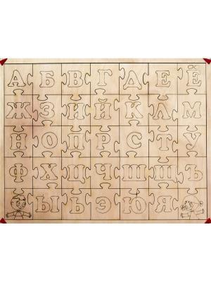 Бизиборд Эко-азбука пазл BIZIKIDS. Цвет: бежевый