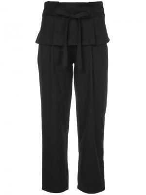 Укороченные брюки с талией многослойным эффектом Guild Prime. Цвет: чёрный