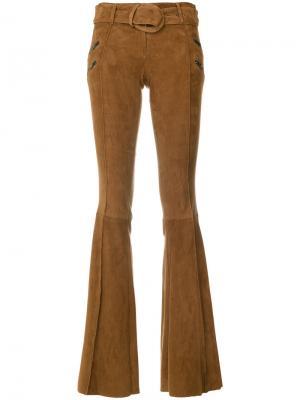 Расклешенные брюки с молниями Drome. Цвет: коричневый