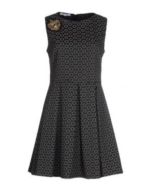 Короткое платье ANGELA MELE MILANO. Цвет: стальной серый
