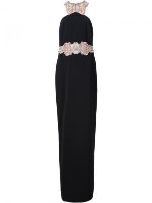 Платье без рукавов Badgley Mischka. Цвет: чёрный