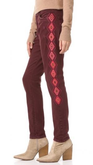 Узкие джинсы-бойфренды Sandrine Rose. Цвет: красный
