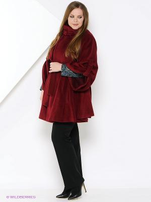 Пальто Estrade. Цвет: бордовый