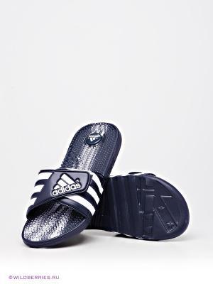 Шлепанцы Adidas. Цвет: синий, белый