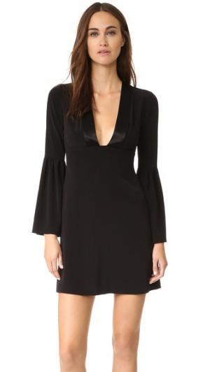 Платье с расклешенными рукавами и глубоким V-образным вырезом Jill Stuart. Цвет: голубой
