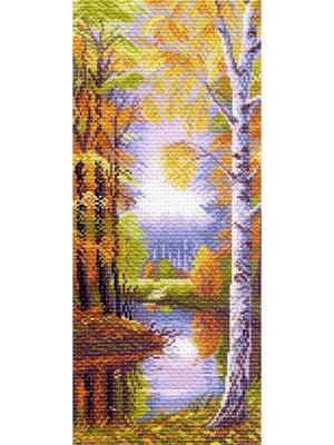 Набор для вышивания Осеннее утро Матренин Посад. Цвет: бежевый, желтый, белый, сиреневый
