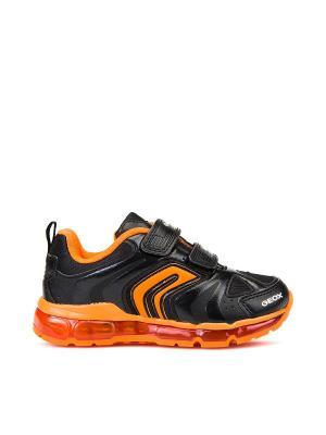 Кроссовки GEOX. Цвет: черный, оранжевый