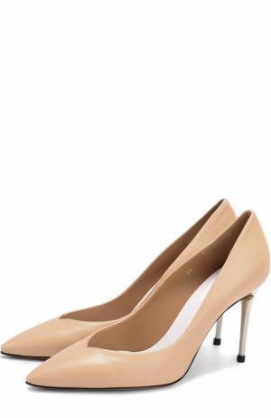 Кожаные туфли на шпильке Maison Margiela. Цвет: бежевый