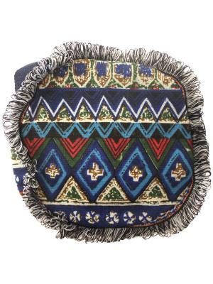 Сумка Этнический узор Tina Bolotina. Цвет: синий, серо-голубой