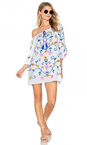 Cotton boho tunic juliet dunn. Цвет: белый