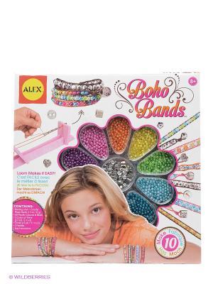Набор для создания браслетов Бохо Шик от 7 лет Alex. Цвет: белый
